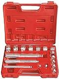 Extractor de rodamiento de Rueda Juego de Herramientas de 17 Piezas Caja de Extractor de Casquillos Conjunto de Extractor de rodamiento de Rueda Extractor de rodamiento.