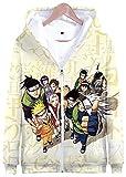 Naruto Sweat à capuche à fermeture éclair intégrale 3D pour femme Motif manga Ninja...
