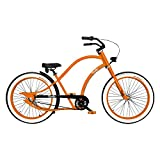 VIVELO Chopper Florida Classic Beach Cruiser Bicycle for Men (26-Inch, 7-Speed), Adult Bike with Lightweight Aluminium Frame, Shimano Nexus Front Roller & Rear Coaster Brake, Wide Tires & Rims