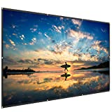 TaoTronics TT-HP023 120 Inch Projector Screen 16: 9 HD Anti-Crease Projection Movies Screen for Home Theater Outdoor Indoor - Foldable and Portable
