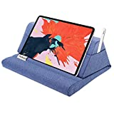 MoKo Tablet Pillow Stand, Soft Bed Pillow Holder, Fits up to 11' Pad, Fit with iPad 10.2' 2019, New iPad Air 3 2, iPad Pro 11 2020/10.5/9.7, Mini 5 4 3, Samsung Galaxy Tab, Denim Blue