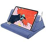 MoKo Tablet Pillow Stand, Soft Bed Pillow Holder, Fits up to 11' Pad, Fit with iPad 10.2' 2019, New iPad Air 3 2, iPad Pro 11 2020/10.5/9.7, Mini 5 4 3, Samsung Galaxy Tab, Denim Blue