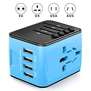 【Worldwide Compatibility Adapter】Ksera all-in-one international travel adapter can be used over 150 countries like USA, UK, AU, Canada, Mexico, Germany, Japan, China, Korea, India, Italy, Europe, etc. Let your worldwide travel recharging carefree. 【A...