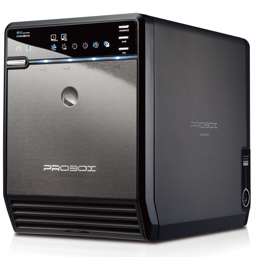 Mediasonic ProBox HF2-SU3S2 4 Bay 3.5 SATA HDD Enclosure  USB 3.0 & eSATA Support SATA 3 6.0Gbps HDD transfer speed