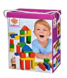 Eichhorn 50 bunte Holzbausteine in der Aufbewahrungsbox mit Kordel und Sortierdeckel, für Kinder ab 1 Jahr