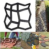 SuperThinker DIY Walk Maker Concrete Molds,Pathmate Stones Mold Paving Pavement Concrete Mould Stepping Stones Paver Walk Way for Garden, Patio, Yard(13''x13'')