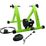 DYNAMIC SE Indoor Bike Trainer Indoor Eexercise Bicycle Magnetic Trainer Stand 6 Levels Magnetic Resistances with Quick Release Skewer(Green)