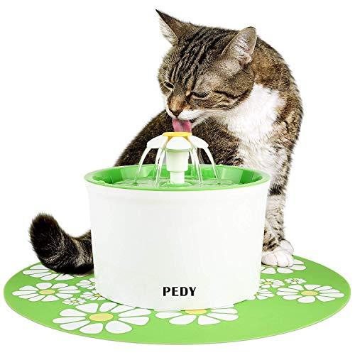 pedy Fuente de Agua Silenciosa para Mascotas con Dispensador Circular...