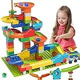 COUOMOXA Marble Run Building Blocks Classic Big Blocks STEM Toy Bricks Set Kids Race Track...