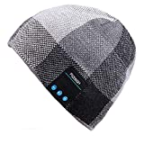 Mydeal Wireless Bluetooth Beanie Hat Headphone Headset Music Audio Cap for Women Men with Speaker & Mic Hands Free Outdoor Sports,Compatible with Iphone X/ 8 plus,Samsung,Best