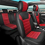 TLH Comfy Car Seat Cushion Pads Complete, Red Color-Universal Fit for Cars, Auto, Trucks, SUV