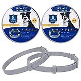 2 Pack Collier Anti Puces pour Chien Imperméable, Protection...