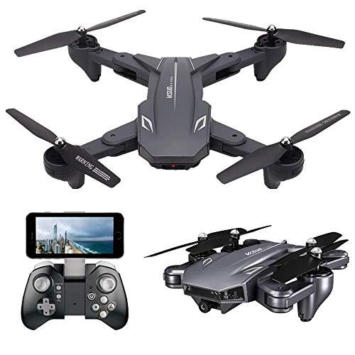 Teeggi VISUO XS816 - Drone con fotocamera per bambini FPV WiFi pieghevole RC Quadricottero principiante 120 grandangolo 3D Flip/sensore di gravitazione/controllo app/modalit testa flos/altezza