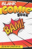 Blank Comic Book Bam 100 Page Variety Template Draw And Create Your Very Own Super Hero Comic: Create Your Very Own Comic Strip 6x9 Notebook Sketchbook for Kids and Adults Alike