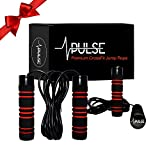 Weighted Jump Rope by Pulse (1LB) with Memory Foam Handles and Thick Speed Cable - For cardio, boxing and MMA , endurance training, Fitness Workouts, Jumping Exercise