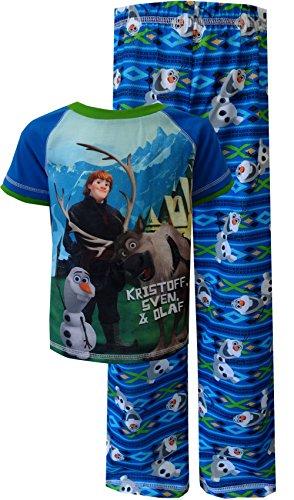 Disney Boys Frozen Olaf with Kristoff and Sven Pajama (8)