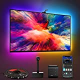 Govee Immersion TV LED Backlights with Camera, RGBIC Ambient Wi-Fi TV Backlights for 55-65 inch TVs PC, Works with Alexa & Google Assistant, App Control, Lights and Music Sync, Adapter