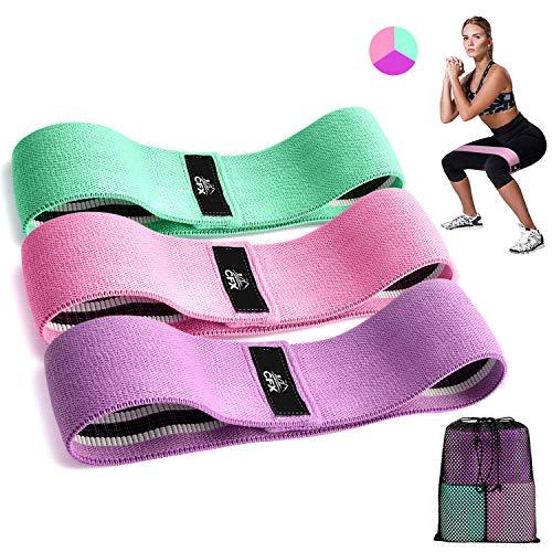 CFX Elastici Fitness, Set di 3 Elastico Fitness Fasce di Resistenza Larghe e in tessutopi Resistente...