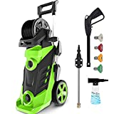 Electric Pressure Washer Homdox 3450PSI Pressure Washer 2.6GPM Power Washer 1800W High Pressure Cleaner Machine with 4 Nozzles Foam Cannon,Best for Cleaning Homes, Cars, Driveways, Patios(Green)