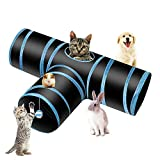 PHYLES Tunnel Chat Jeu Chat, Tunnel Lapin Pet Tunnel 3 Way Crinkle Tunnel...