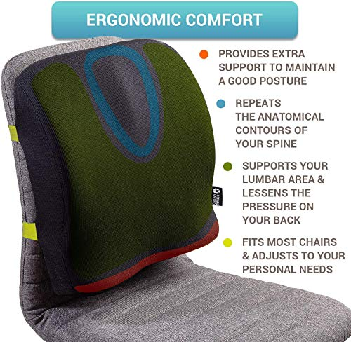 Product Image 3: Back Support for Office Chair - Memory Foam Lumbar Pillow - Perfect Cushion for Car, Computer and Desk Seat