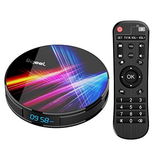 Bqeel Android TV Box【4G+32G】 R1 PRO Android 9.0 TV Box mit RK3318 Quad-Core 64bit Cortex-A53/ unterstützt WiFi 2.4G/5.0G /Bluetooth 4.0/ 4K/HD/ USB 3.0/H.265 Smart tv Box Android Box