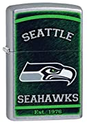 "Custom Style Personalized Zippo Lighter NFL - Free Laser Engraving Genuine Zippo windproof lighter with distinctive Zippo ""click"" Made in USA; lifetime guarantee that ""it works or we fix it free"" Engrave up to 3 lines 15 characters per line for free ..."