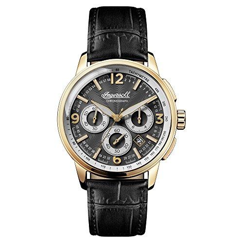 Ingersoll Herren Analog Quarz Uhr mit Leder Armband I00102