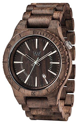 WEWOOD Herren Analog Quarz Smart Watch Armbanduhr mit Holz Armband WW29004