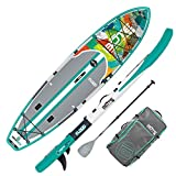 BOTE Flood Aero Inflatable Stand Up Paddle Board, SUP with Accessories | Pump, Paddle, Fin, Travel Bag | Native Patchwork…