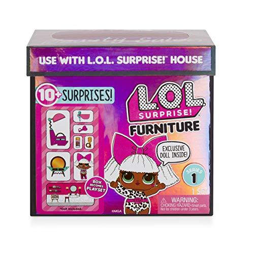 Image 3 - MGA- Meubles L.O.L Salon de beauté avec poupée Diva et 10+ Surprises Toy, 564102E7C, Multicolore