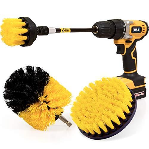Holikme 4 Pack Drill Brush Power Scrubber Cleaning Brush Extended Long...