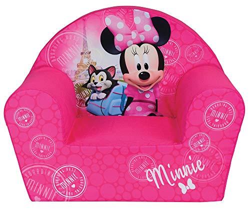 Fun House Disney MIINIE Paris 712583-Poltroncina per Bambini, Motivo: Orso Bruno, Fodera Schiuma di Poliestere, Rosa, 52 x 33 x 42 cm