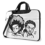 XCNGG The Boondocks Anime Laptop Hombro Messenger Bag Tablet Computadora Mochila de Almacenamiento Bolso 15.6 Pulgadas