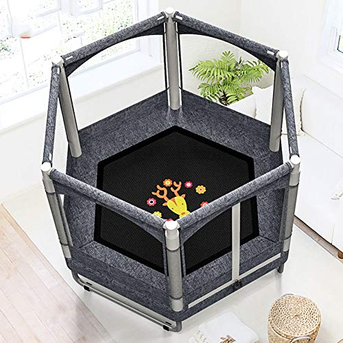 Fitness Trampoline Kids Baby Mini Rebounder Trampoline with Fence for Indoor Outdoor Exercise Jumper Max Load 150kg 4