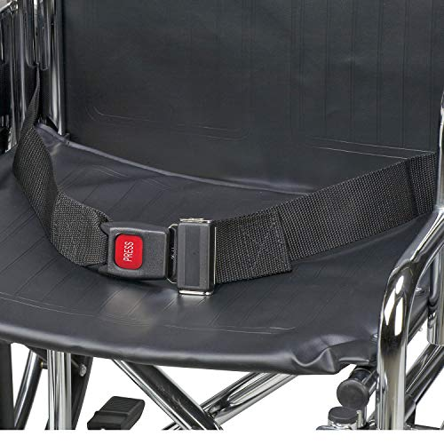 DMI Wheelchair Seat Belt and Safety Harness, Easy Install, 48 Inches Long and 1.75 inches Thick, Black