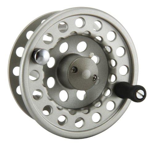 Okuma SLV- 5/6 Diecast Aluminum Fly Reel, Light Silver