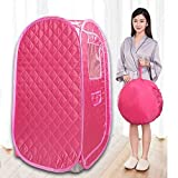 Portable Sauna Tent, Foldable One Person Full Body Spa for Weight Loss Detox Therapy Without Steamer - Pink
