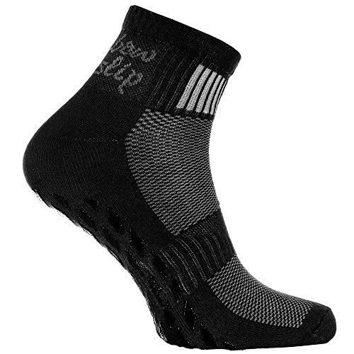 Rainbow Socks - Donna Uomo Sportive Calze Antiscivolo ABS di Cotone - 1 Paia - Negro - Tamao 42-43