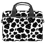 Black Leopard - Bolsa para portátil de 13,4 – 14 pulgadas, multifuncional, maletín portátil, correa ajustable para el hombro