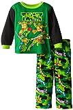 Teenage Mutant Ninja Turtles Little Boys' Camo Masks Cozy Fleece Pajama Set,Multi,2T, Multicolor, Size 2T