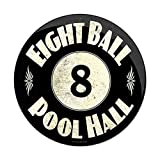 8 Ball Pool Table Metal Sign Man Cave Garage Club Den Gameroom Bar Pub 12' Diameter