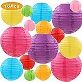 Q&A 16 Lanternes de Papier Colorées (Taille de 4', 6', 8',...
