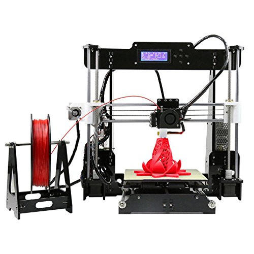 Anet A8 Impresora 3D Kit Reprap I3 Marco de acrílico Impresión de 220 x 220 x 240 mm Tamaño para hacer artesanía DIY (Negro)