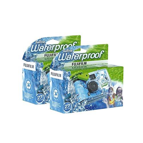 Fujifilm Disposable QuickSnap Waterproof Pool Underwater 35mm Camera, Pack of 2