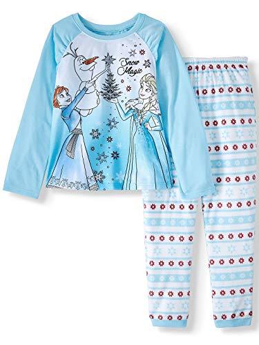 Frozen Anna, Elsa and Olaf Snow Magic Christmas Fleece Pajama Set