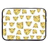 The Animal is Yellow Bolsas para portátiles compatibles con tabletas Netbook de 15 ″, maletín con Funda Pringting, Funda para el Estuche con Funda para el Bolso