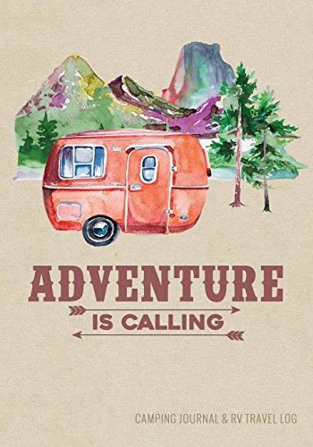Camping Journal & RV Travel Logbook, Red Vintage Camper...