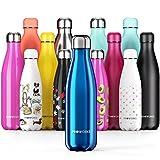 Proworks Bottiglia Acqua in Acciaio Inox, Senza BPA Vuoto Isolato Borraccia Termica in Metallo per Bevande Calde per 12 Ore & Fredde 24 Ore, Borraccia per Sport, Lavoro e Palestra - 750ml - Blu