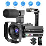 Tech :  Caméra vidéo Caméscope 2.7K Ultra HD YouTube Vlogging Camera 36MP IR Night Vision Digital Camera Recorder 16X Digital Zoom 3 pouces IPS Touch Screen Video Camcorder with Microphone Handheld Stabilizer  infos , tests